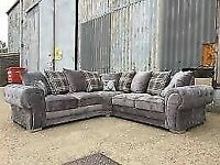 🔵💖🔴It is clearance time🔵💖🔴 verona 3 and 2 seater sofa set in grey color-cash on delivery
