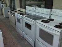 "30"" Self Clean Stove  $329 / White Stove $240 - USED APPL SALE!!"