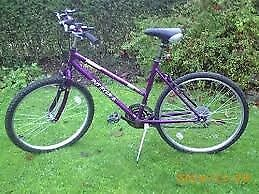 universal ladies purple ladies bike