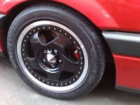 two piece carving stark alloy wheels 5x100 6.5j 15""