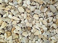 20mm Yorkshire Cream flint Gravel Chippings Decorative Aggregate Stone/Gravel PER TONNE