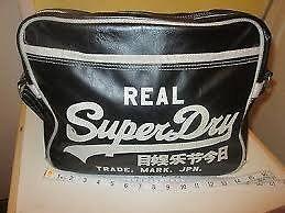 Genuine Mens Superdry bag - Black with white writing
