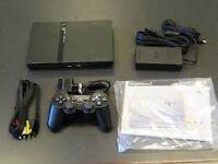Playstation PS2 with controller, box and Crash Bandicoot (rare)