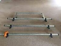 Ford transit low roof triple racks with rear Rollers very good condishion