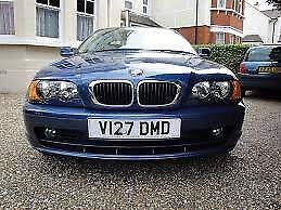 Genuine BMW e46 3 series front headlamps/indicators + bumper (Blue)