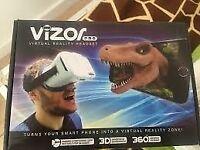 Vizor Virtual reality Headset and control