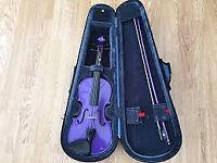 3/4 Stentor Violin (dark purple) with case