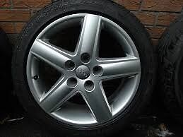"17"" audi alloys with 4 brand new tyre's"
