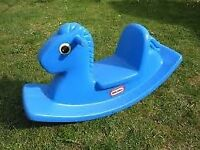 Little Tikes blue rocking horse in good used condition £10