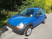 2002 FORD KA COLLECTION 3 DOOR HATCHBACK, 1ST TO SEE WILL BUY. LONG MOT CHEAP TAX.