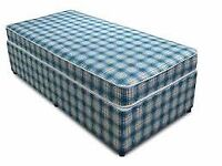 Brand New Comfy Single Bed set Divan plus Matt FREE delivery 2 Available