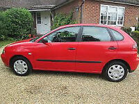2002 SEAT IBIZA CHILL 5 DOOR HATCHBACK, 1400CC ENGINE, ALLOYS, NEW CAMBELT, LONG MOT. CHEAP TO TAX.