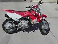 WANTED two pit paddock monkey mini bike CRF PW Honda Yamaha Kawasaki Suzuki Oset trials MX motocross