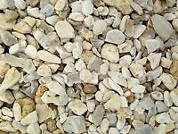 20mm Yorkshire Cream flint Gravel Chippings Decorative Aggregate Stone/Gravel PER TONNE