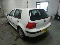 1998 VOLKSWAGEN GOLF SE 5 DOOR WHITE HATCH 1.6 PETROL - AKL - CAR PARTS