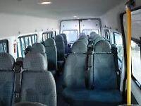 Minibus for hire/rent/17 seater