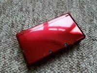 3ds metallic red original never used ver: 4.0 + 3 games