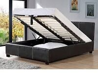 OTTOMAN LEATHER STORAGE DOUBLE BED WITH ORTHOPAEDIC MATTRESS!WE DO SINGLE/DOUBLE/KING SIZE