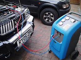 CAR AIR CONDITIONING RE-GAS R134A RECHARGE ONLY £36.00