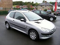 2005 PEUGEOT 206 3 DOOR HATCHBACK, 1124CC , 60,000 MILES, OCT 2017 MOT.