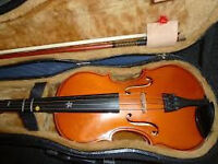 Andreas Zeller 1/2 Violin from Romania with Bow (London-UK made) and Case