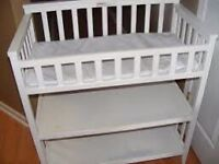 Wooden Baby Changer With Soft Mat