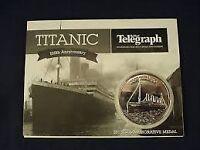 Titanic 100th anniversary 2012 commemorative medal