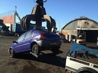 SCRAP CARS WANTED ANY CONDITION MAKE OR MODEL ACCIDENT NON RUNNERS CALL NOW