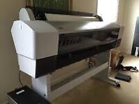 Epson 9880 large format banner plotter business canvas sticker printer great cond