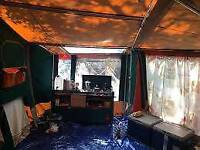 Raclet 4 berth trailer tent with kitchen station
