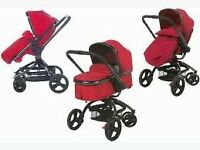 red mothercare orb travel system