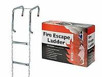 4.5m Homesaver Emergency Fire Escape Ladder -Suitable for 2 Storey Buildings
