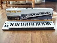 KeyRig 49 USB keyboard full working order