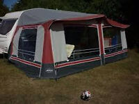 Sterling Awning 16' in Burgundy, hardly used.