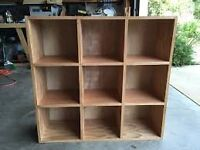 9 CUBE DISPLAY UNIT IN OAK FINISH ONLY £20!!!