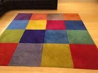 Ikea square multicoloured rug for Sale 210 x 210cm