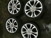 18 inch genuine audi vw alloy wheels