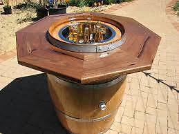 Wine Barrel Table Top Circular Or Hexagonal Large Part 48
