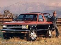Looking to purchase 80's S-10 blazer