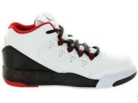 Jordan Flight Origin 2 PS white/white-black-gym red size 13.5 uk 32 eu kids trainers shoes children