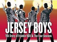Jersey Boys Tickets x 2 Sat 3rd Feb 2018 2.30pm - fantastic seating