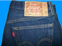levi 501 denims dark blue 36 w 32 leg