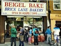 Sales Assistant's at Bagel Shop on Brick Lane!