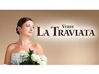 2 tickets for La Traviata Theatre Royal Norwich Monday 19th March 7.30 just £10 the pair!
