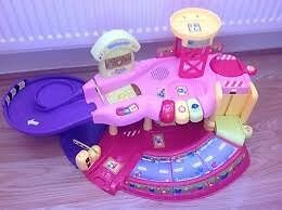 pink vtech toot toot garage and cars