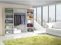 Make The Comfort Deal LUX 3 SLIDING DOORS WARDROBE IN 250CM SIZE & IN MULTI COLORS