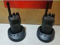 3x Motorola CP040 UHF Radio Walkie Talkies