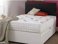 Double Orthopaedic Divan Bed and Mattress White WE GOT SINGLE SMALL DOUBLE KINGSIZE BED IN STOCK