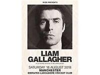 Liam Gallagher Manchester, Old Trafford Cricket Ground. x2 Standing Tickets