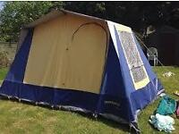 SUNNCAMP VILLA 4 REAL TENT WITH STEEL POLES PROPER HOLIDAY TACKLE